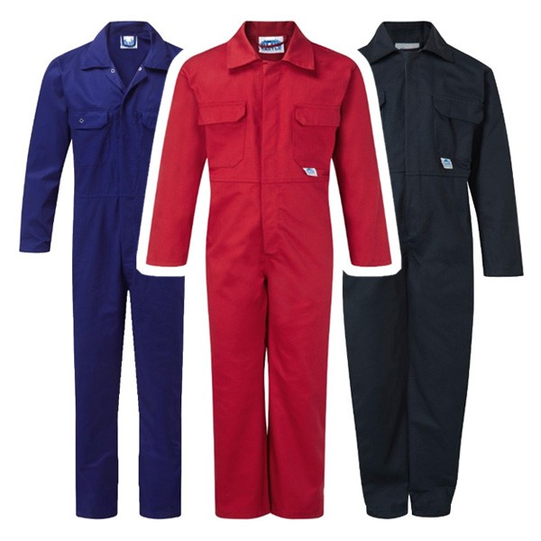 45c234092c87d Childrens kids and toddlers size coverall overalls boiler suit with velcro  front fastening. Heavy duty 240gsm poly/cotton with velcro chest pockets  and ...