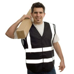 Black Adults Hi Vis Vest