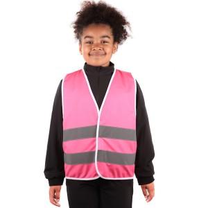 Pink Kids Hi Vis Vests with...
