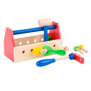 Childrens Kids Wooden Toolbox
