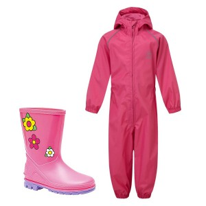 Pink Kids Waterproof Suit &...