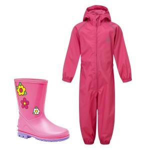 Pink Kids Waterproof Suit &...